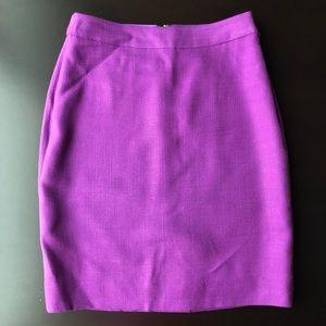 Kate Spade Purple classic pencil skirt